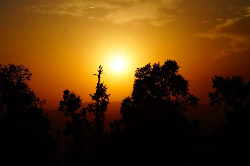 Sun Set at nag tibba base camp