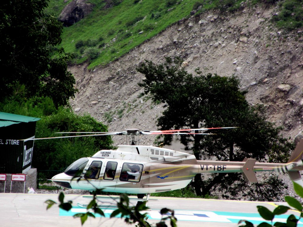 Helicopter Service To Ghaghariya during Valley of Flower and Hemkund Sahib Uttarakhand