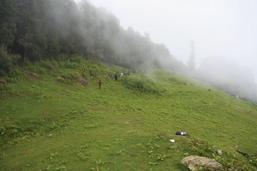 beautiful view on nag tibba trek