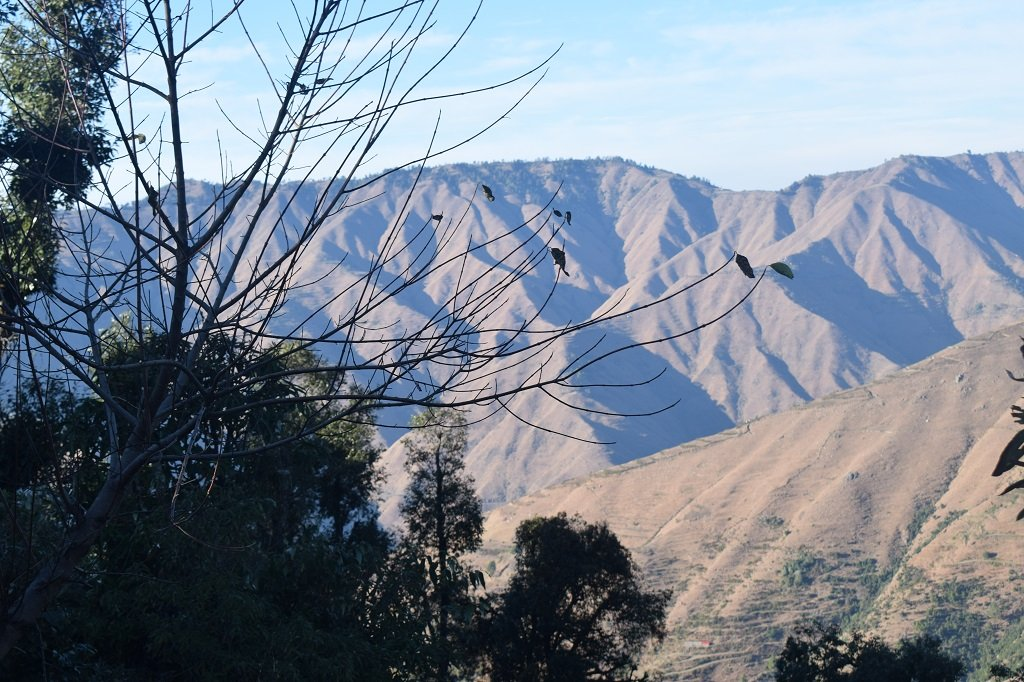 beautiful view of mountains on nag tibba