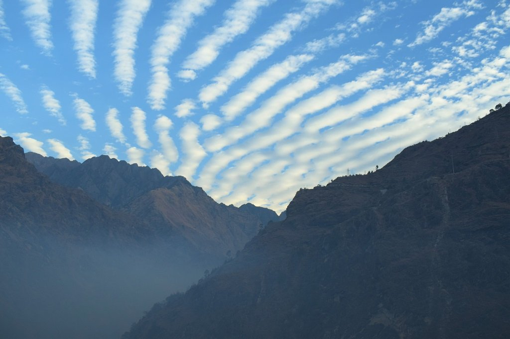 beautiful view of sky on kuari pass trek