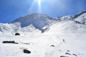 Utttarakhand Trip Trek:  snow coverd mountains on kuari pass trek
