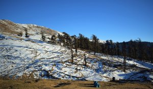 Utttarakhand Trip Trek:  snow view on barahmataal trek