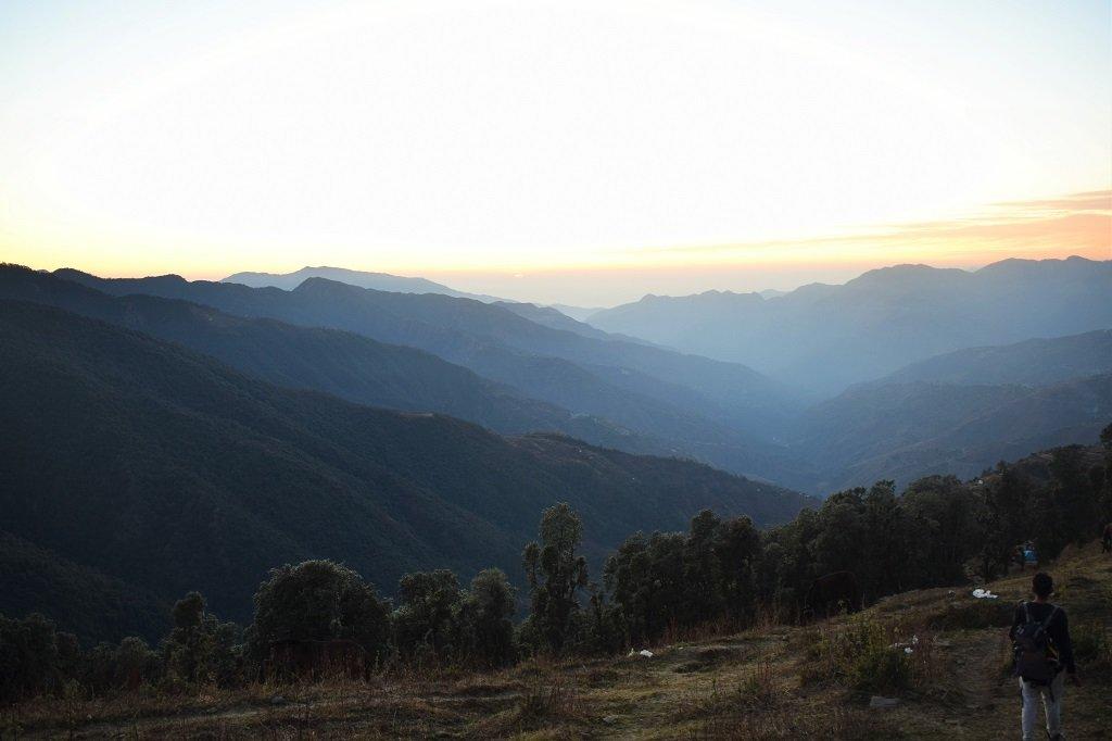 view of mountains on nag tibba trek