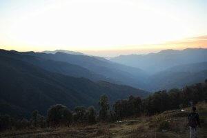 Utttarakhand Trip Trek:  view of mountains on nag tibba trek