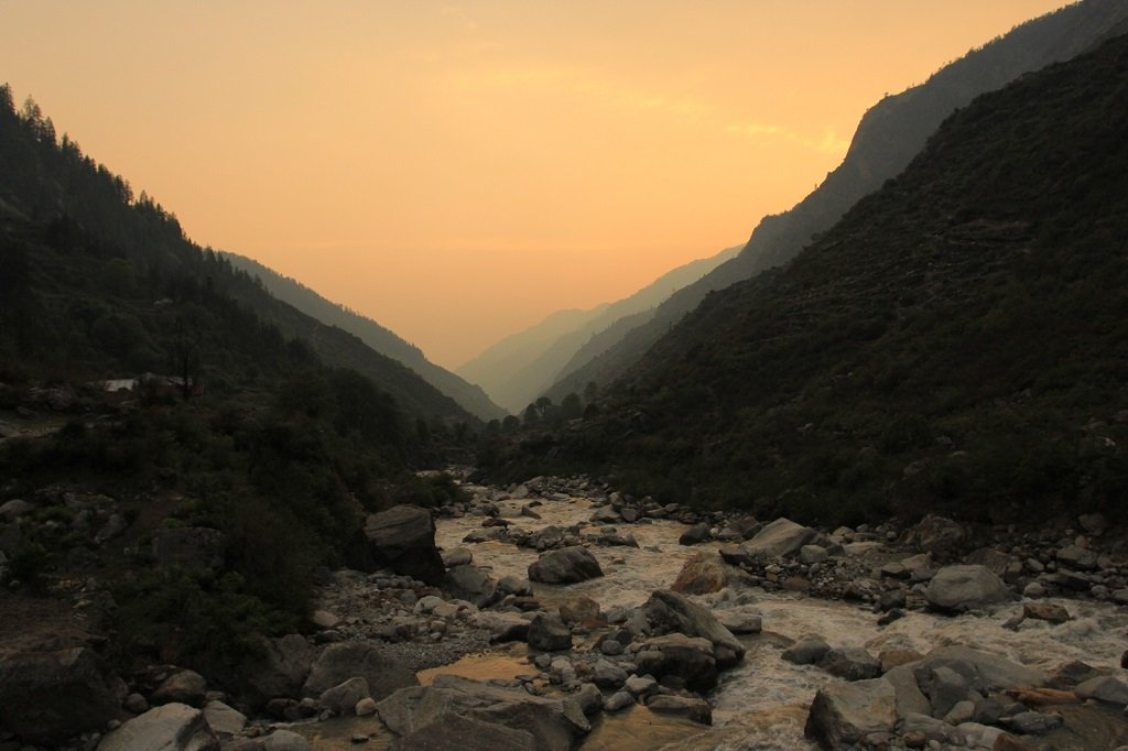 beautiful view of har ki dun valley