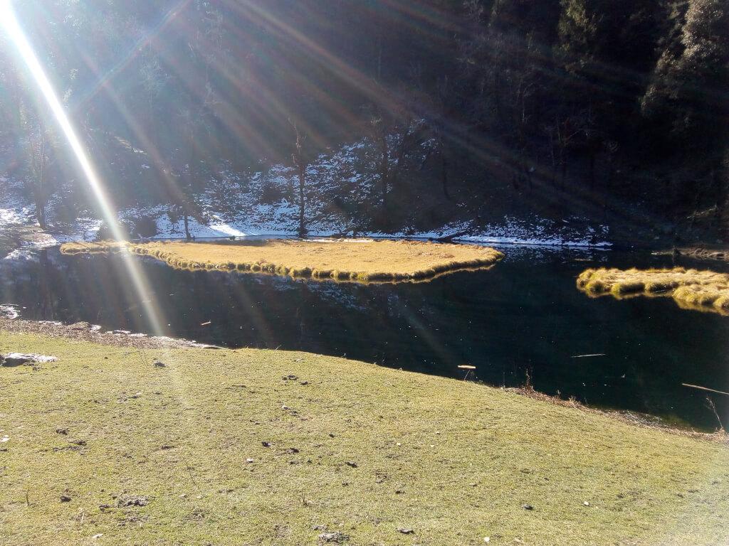 Beautiful view of jadu ka talab