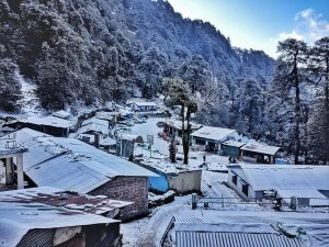 Utttarakhand Trip Trek:  Snow fall at chopta