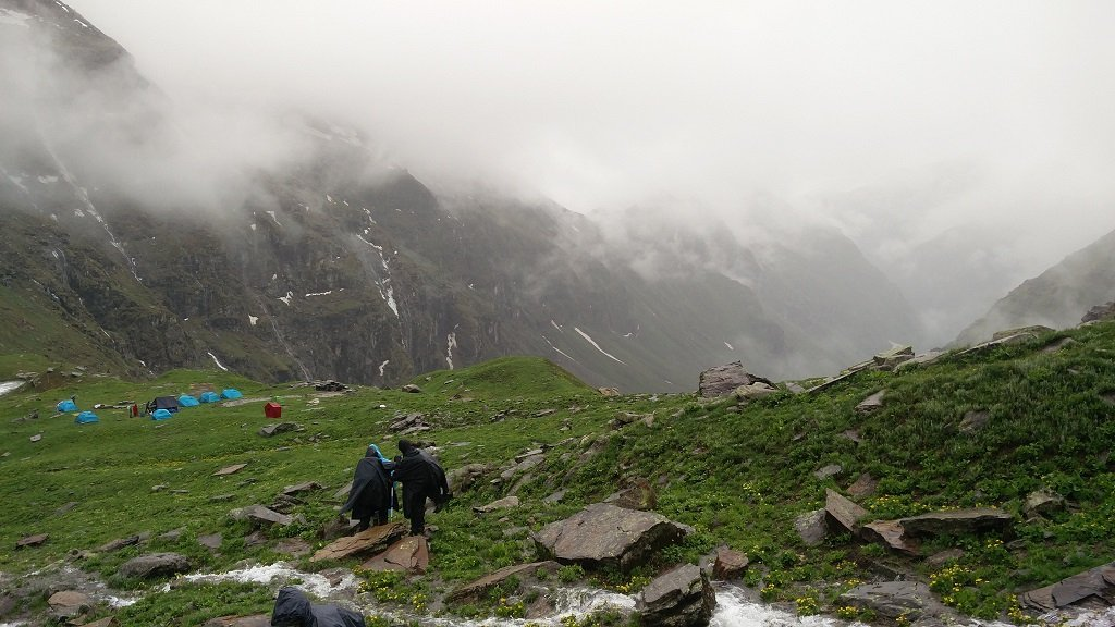 camp site view of rupin pass trek