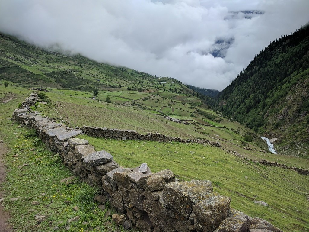 beautyful view on rupin pass trek