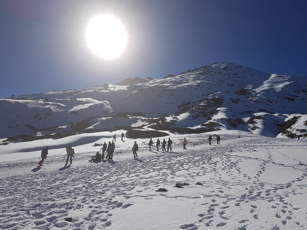 way to summit point of kedarkantha trek
