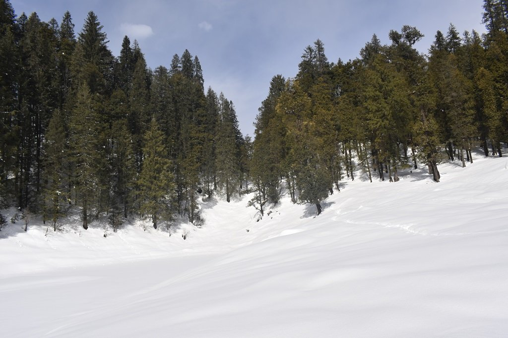 SNOW COVERD MOUNTAIN ON KEDARKANTHA TREK