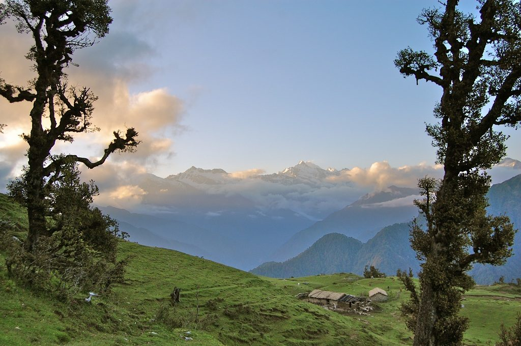 Beautiful view from Panwali kantha trek,