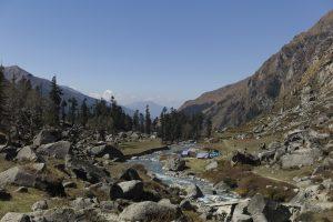 Utttarakhand Trip Trek:  Camp site at Borashu pass