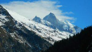 Utttarakhand Trip Trek:  Snow capped mountain view from Borashu pass Trek