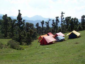 Utttarakhand Trip Trek:  camping at Panwali kantha