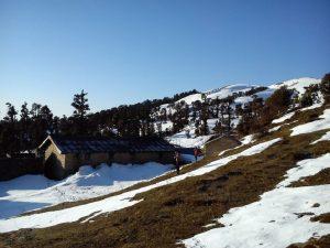 Utttarakhand Trip Trek:  snow at Panwali kantha tre,