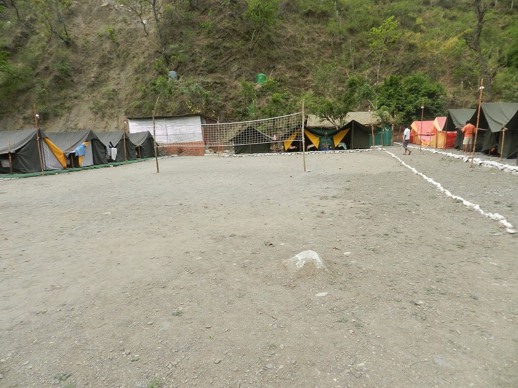 Beach Volley ball in Rishikesh