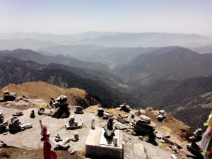 Utttarakhand Trip Trek:  Shivlingam at the top of Chandrashila Peak. Uttarakhand