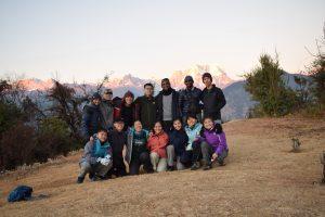 Utttarakhand Trip Trek:  group photo at deoria tal trek
