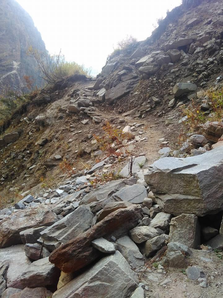 In route of sundardunga trek