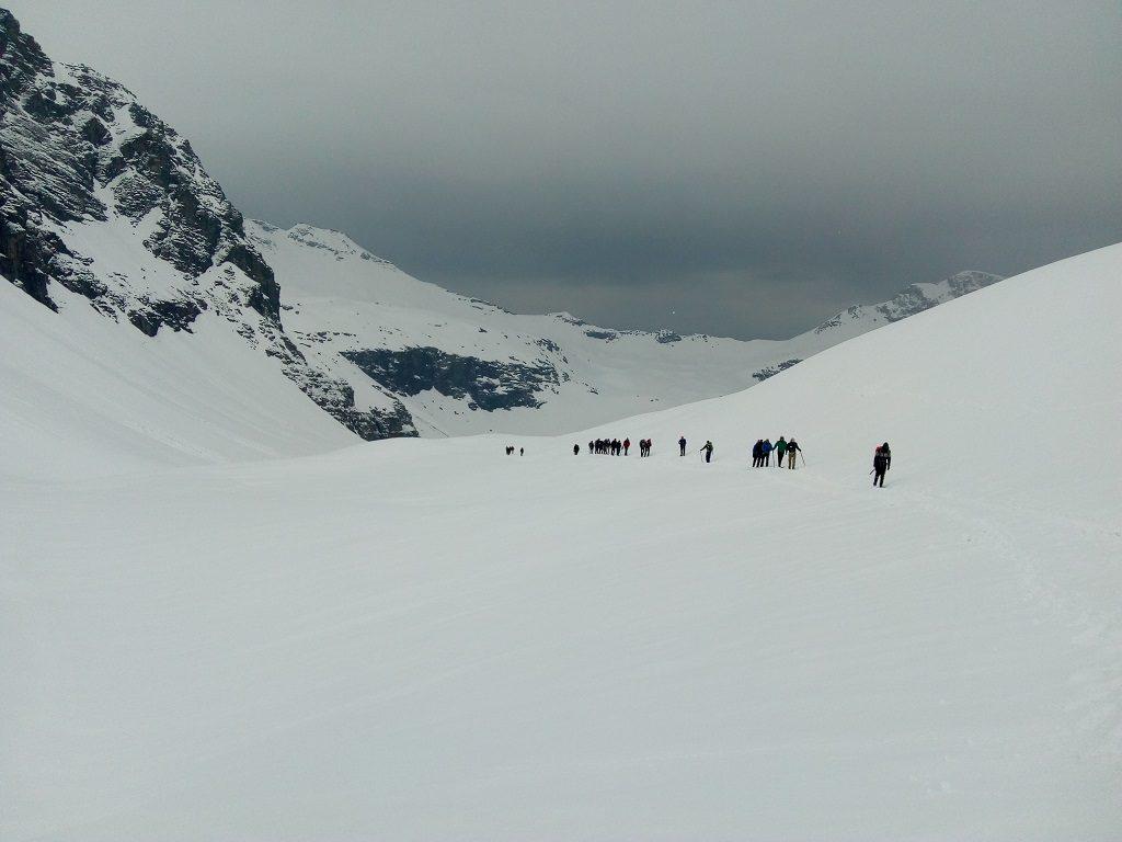 trek to rupin pass snow trek