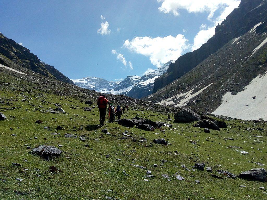 view on rupin pass trek june 2019